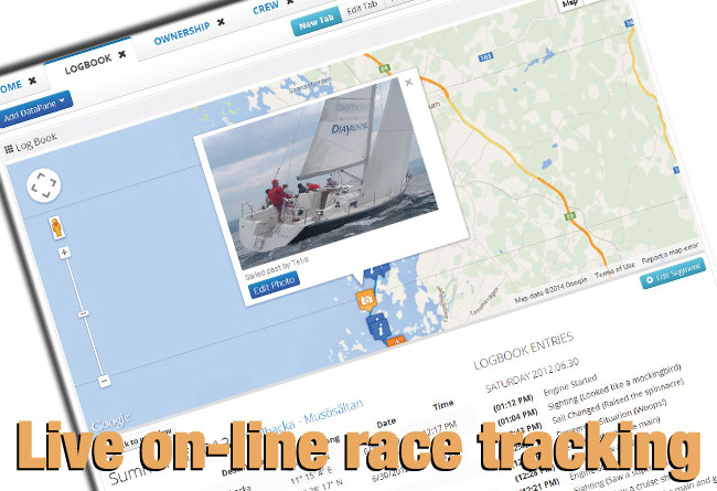 Live on-line race tracking