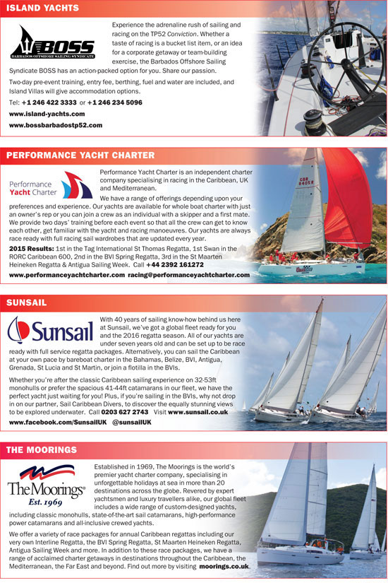 The Caribbean Sailing Association calendar